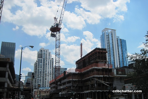 New apartment buildings on Wells June 19, 2016