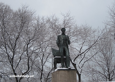 Abe Lincoln in winter 2010